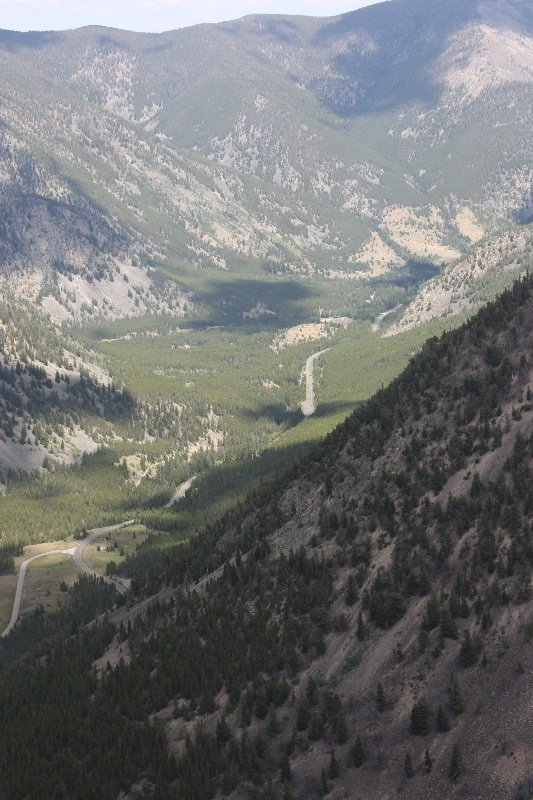 Looking back from Beartooth Pass
