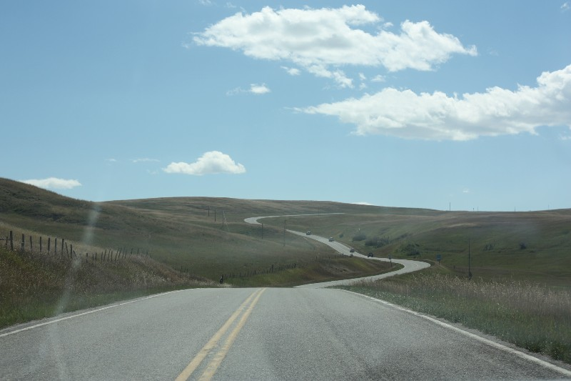 Heading away from Columbus MT