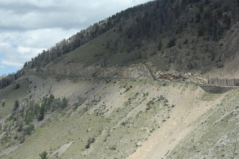 Road ahead to Beartooth Pass