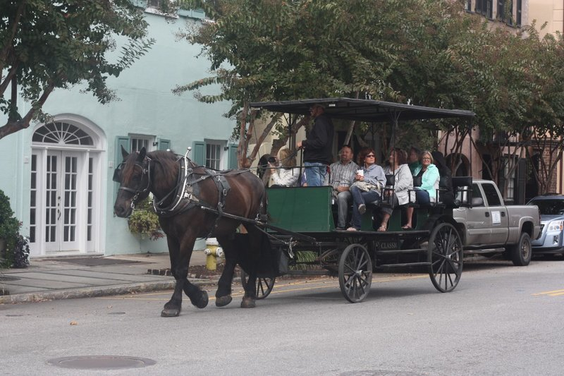 Horse-drawn bus