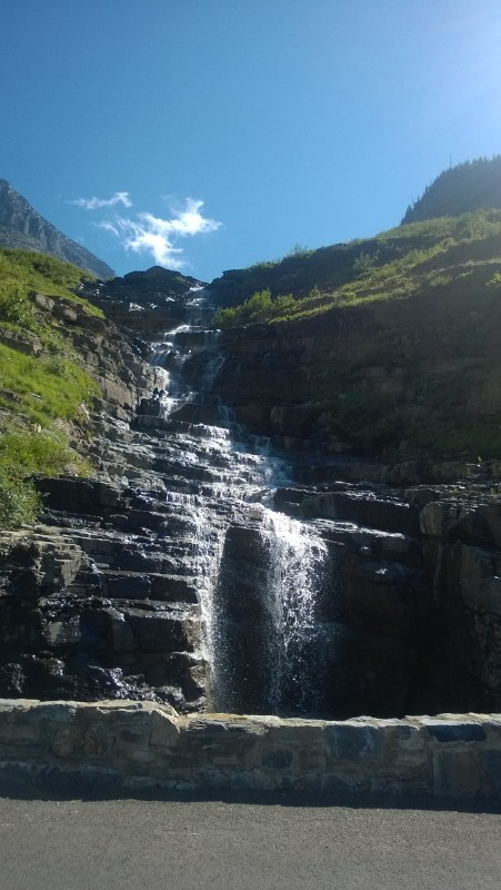 Waterfall @ Glacier National Park