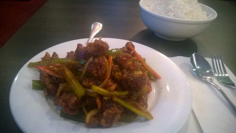 Szechuan Beef, Hong Kong Harbour Restaurant