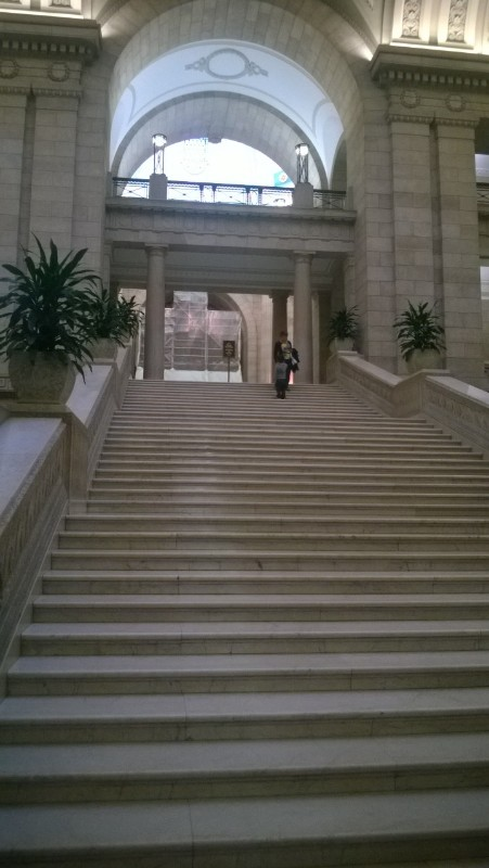 Steps into Manitoba Legislature