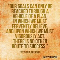 Our goals can only be reached through a vehicle of a plan, in which we must fervently believe, and upon which we must vigorously act copy