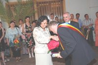 Simonette and Daniel Brebenariu on their Civil Wedding