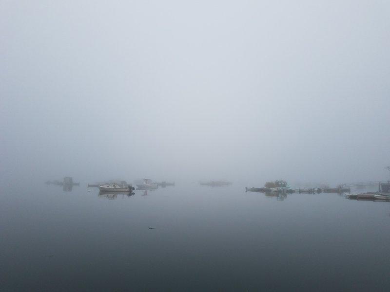 Bass Harbor in the Fog
