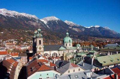 AUS201 View from Stadtturm (Innsbruck)