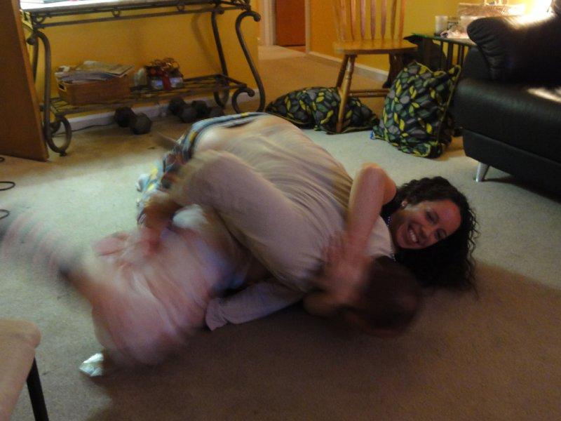 Megan Wrestling