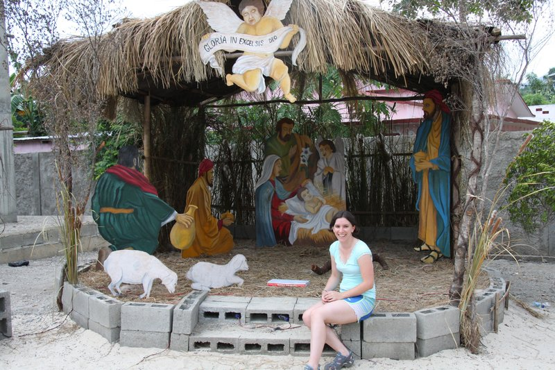 Kate in nativity scene