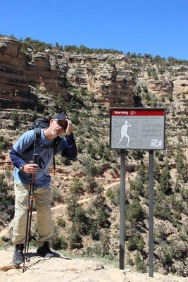 hikers warning