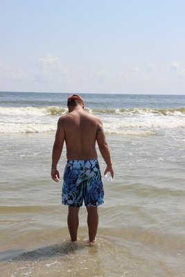 Curt in the cool ocean