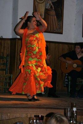 orange flamenco dancer