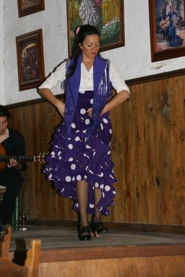 purple flamenco dancer