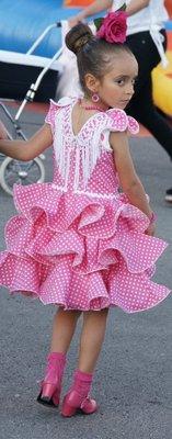pink flamenco girl