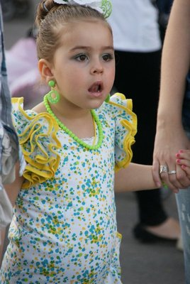 girl in amazement