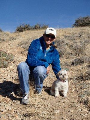 Emma and I hiking