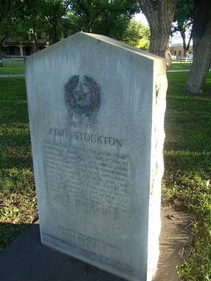 Fort Stockton marker