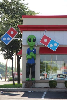 Alien at Dominos