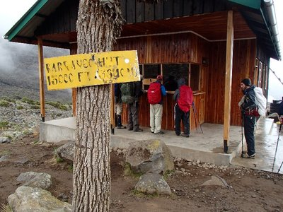 Barranco hut sign in