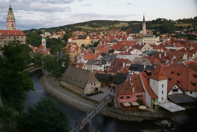 Cesky view from castle