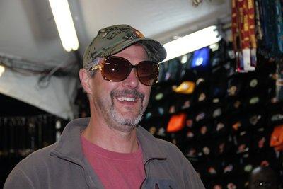 Chris shopping for glasses