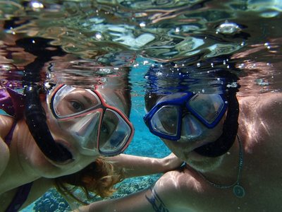 Curt and I snorkeling