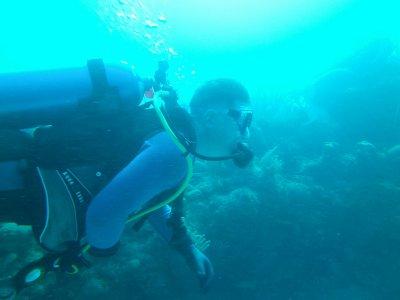 Curt diving in Cuba