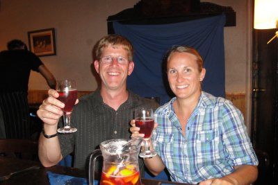 Curt and I with Sangria