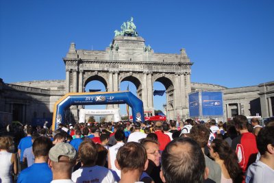start of Brussels half marathon