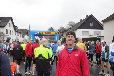 Curt at start of Rursee Marathon