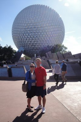 Curt and I at Epcot icon
