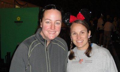 Tori and I before half marathon