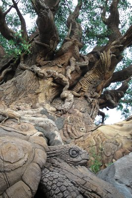 Tree of life carvings