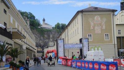 Finish of Salzburg marathon