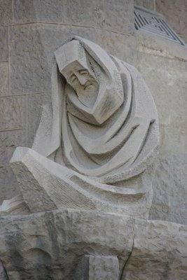carving on front of Sagrada