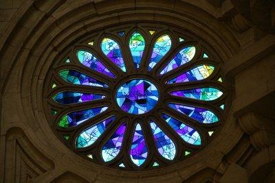 stain glass window of Sagrada