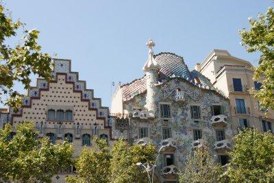 front of Casa Batllo