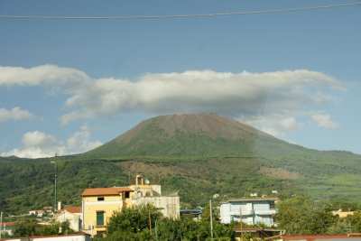 vesuvius from the bus on the way home