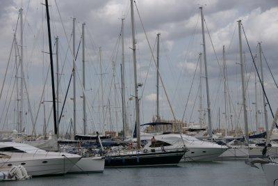 yachts in Palma harbor