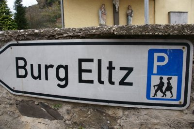 sign for Burg Eltz