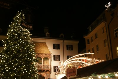golden roof and xmas market