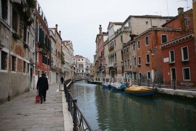 quiet sunday street in Venice