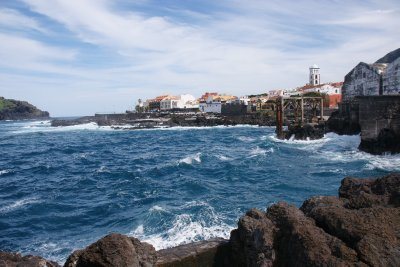 ocean view in small town on Tenerife Island