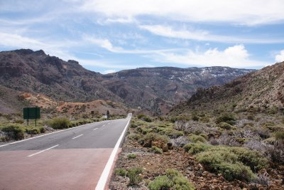 road through Teide National Park