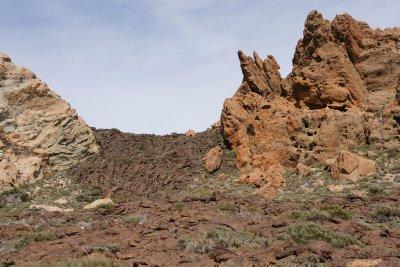 lava between the rocks