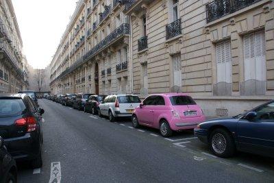 my pink car