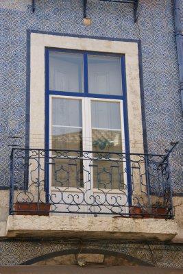 tiled walls of Lisbon