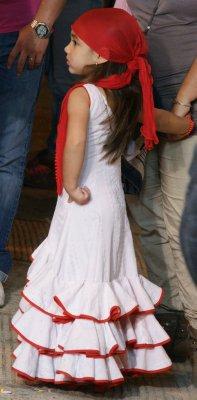 red flamenco girl
