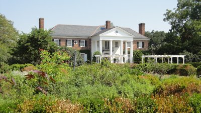 plantation house from garden