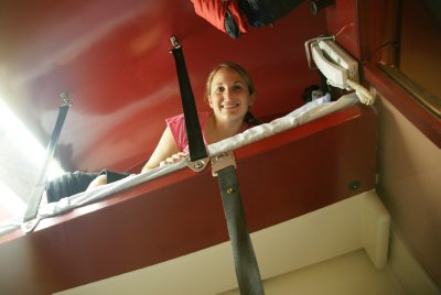 my bunk on the top